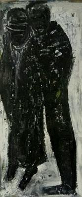 Paar, 2017, 80,6 x 34 cm, Acryl und Tusche auf Karton
