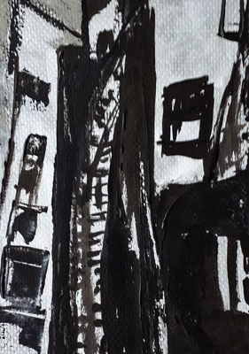 Ohne Titel, 2018, 16,8 x 11,8 cm, cryl auf Papier