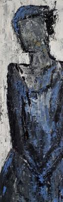 Mädchen, 2018, 60 x 20 cm, Oel auf Leinwand