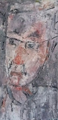 Mann, 2018, 60 x 30 cm, Oel auf Leinwand