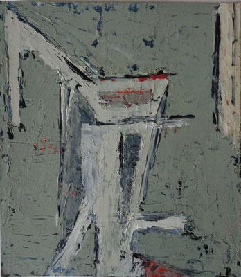 Abstrakt, 2015, 19,2 x 19,2 cm, Öl auf Karton