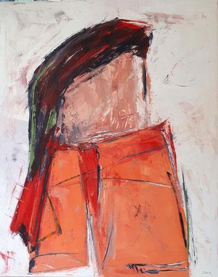 Junge, 2017, 100 x 80 cm, Oel auf Leinwand