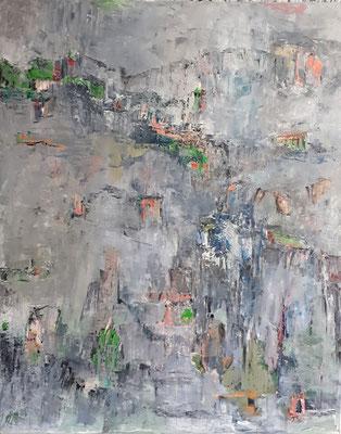 Landschaft, 2018, 100 x 80 cm, Oel auf Leinwand