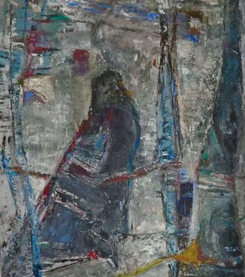 Voge,l 2015, 75 x 65 cm, Öl auf Leinwand