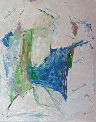 Abstrakt, 2015, 100 x 80 cm, Öl auf Leinwand