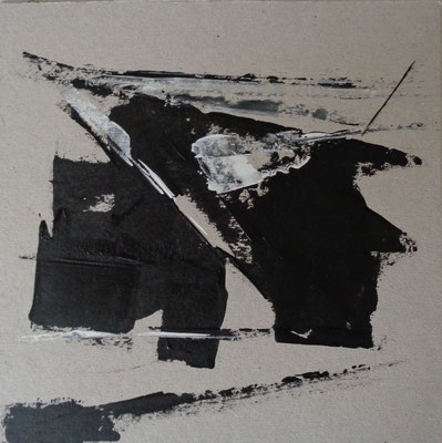 Abstrakt, 2015, 21 x 21 cm, Acryl auf Karton
