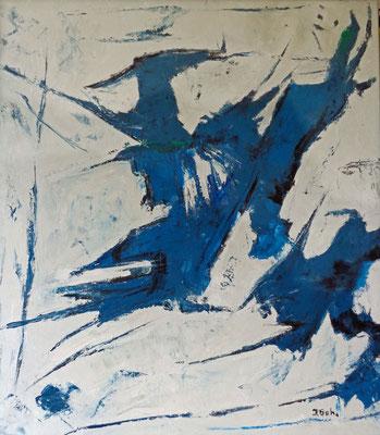 Vogelflug, 2015, 80 x 70 cm, Öl auf Leinwand