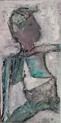 Junge, 2018, 60 x 30 cm, Oel auf Leinwand