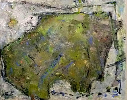 Stier, 2017, 80 x 100 cm, Oel auf Leinwand