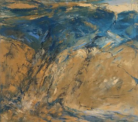 Abstraktes Bild, 2018, 90 x 100 cm, Oel auf Leinwand