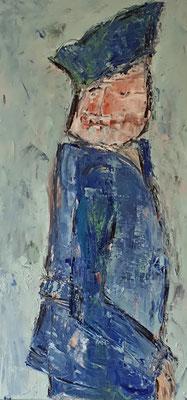 Matrose, 2018, 80 x 40 cm, Oel auf Leinwand