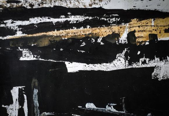 Ohne Titel, 2018, 11,5 x 16,5 cm, Tusche und Acryl auf Papier