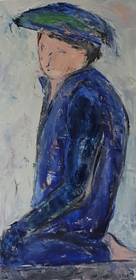 Chinese, 2018, 80 x 40 cm, Oel auf Leinwand