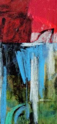 Abstrakt, 2015, 18,2 x 8,5 cm, Aquarellstifte auf Papier