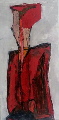 Frau, 2017, 60 x 30 cm, Oel auf Leinwand
