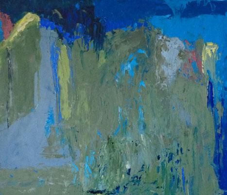 Ohne Titel, 2015, 36,3 x 42,3 cm, Öl auf Karton