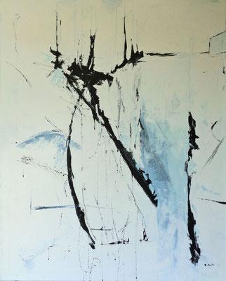 Ohne Tite,l 2015, 100 x 80 cm, Öl auf Leinwand