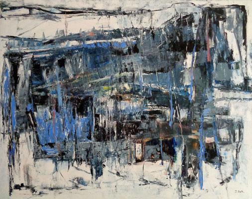 Abstrakt, 2015, 80 x 100 cm, Öl auf Leinwand