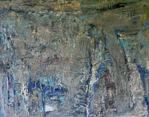 Blaue Landschaft, 2015, 80 x 100 cm, Öl auf Leinwand