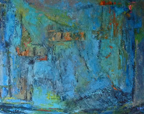 Ohne Titel, 2015, 80 x 100 cm, Öl auf Leinwand