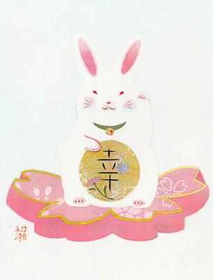 まねきうさぎ・弥生・置き型フレーム(C)Kamiya Hasse