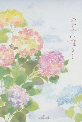 貼り絵・あじさい・初夏・和風イラスト