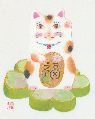 まねきねこ・皐月・置き型フレーム(C)Kamiya Hasse