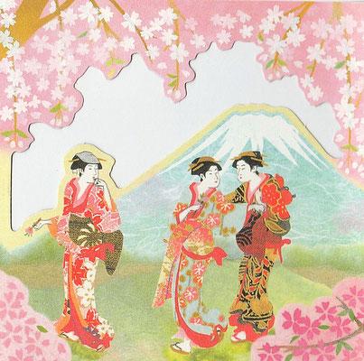 景色と美人画カレンダーより・春(C)NIHON HALLMARK
