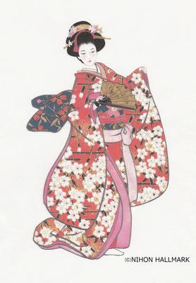 和風デザイン・和服・美人画
