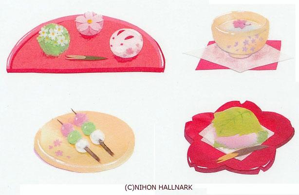 便箋「さくら茶屋」用原画(C)NIHON HALLMARK