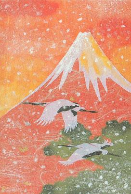 和風クリスマスカード・日本ホールマーク社より発売(C)Kamiya Hasse