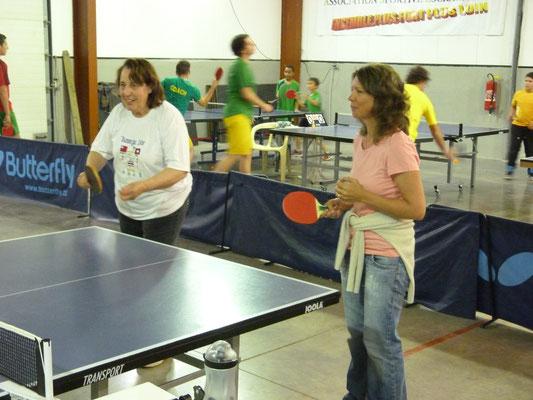 Céline et Geneviève en double