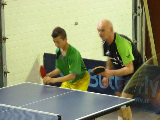 Diego et Alain, double interclub, ont terminé quatrième de la compétition