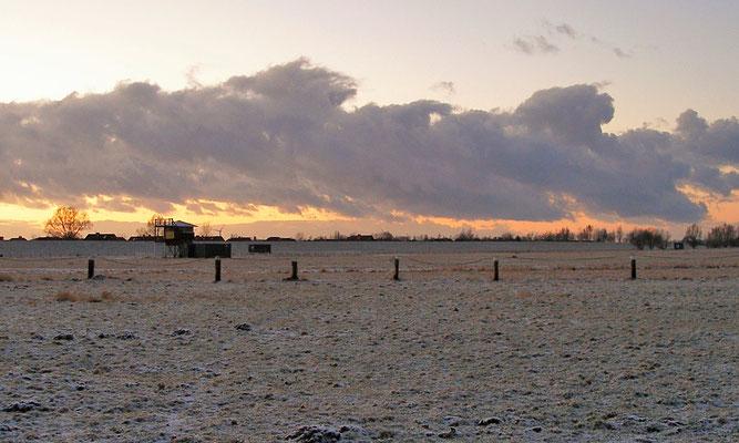 Ferienwohnung Sonnenhook, Hooksiel, Wangerland, Nordsee, Pferderennbahn Hooksiel im Winter