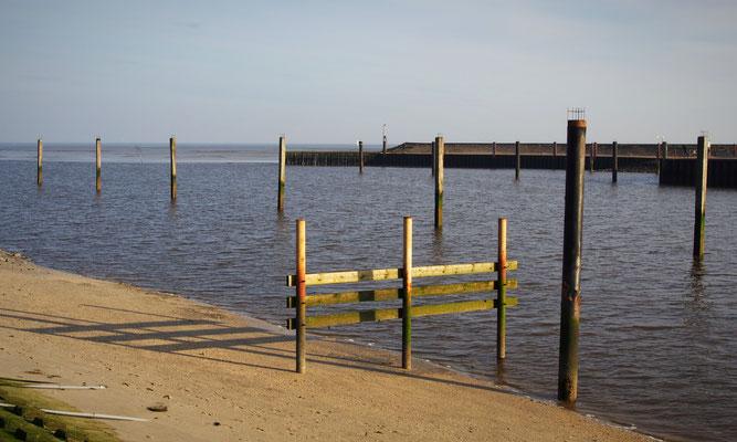 Ferienwohnung Sonnenhook, Hooksiel, Wangerland, Nordsee, Herbst im Hafen von Horumersiel