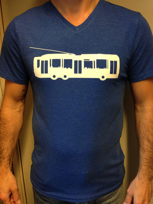 Shirt met trolleybus