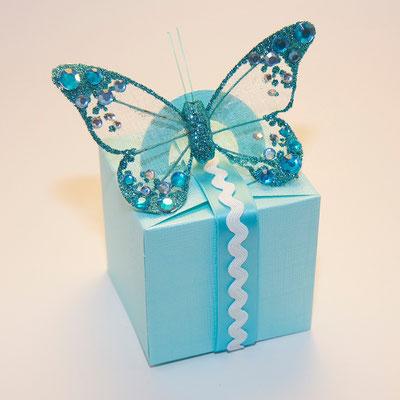 Geschenkbox aqua