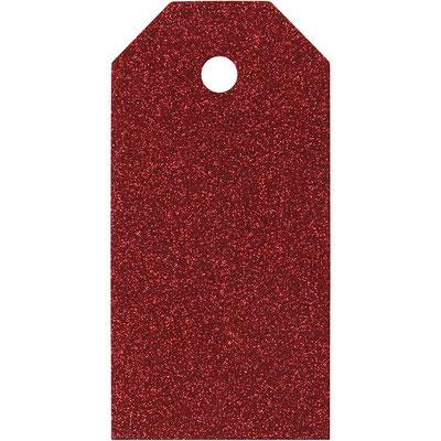 Gescheknanhänger Glitter rot