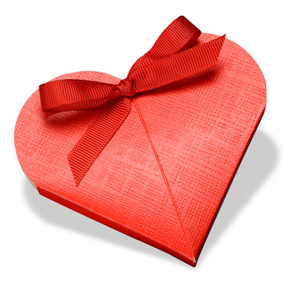große Geschenkbox Herz