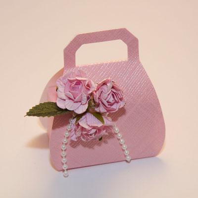 Handtaschen Faltschachtel rosa
