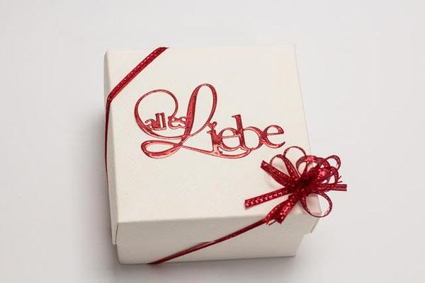 Geschenkbox Quadrat mit Deckel weiß, Faltschachtel