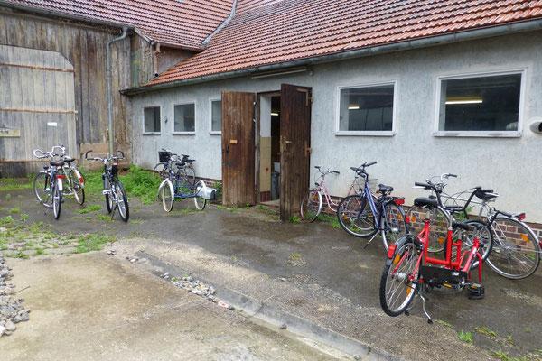 Eingangsbereich Fahrradwerkstatt