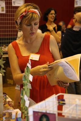 Mathilde Fraysse et sa jolie robe rouge