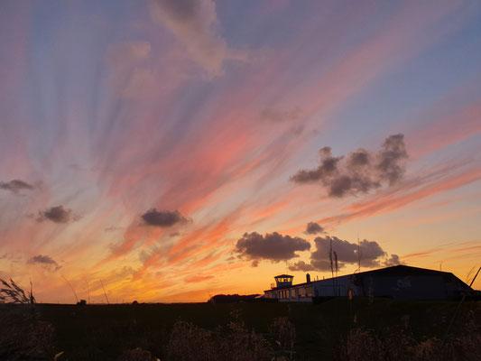 Sonnenuntergang wie für uns gemalt