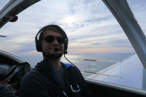 André zum ersten Mal als PIC nach der Einweisung auf die Taifun