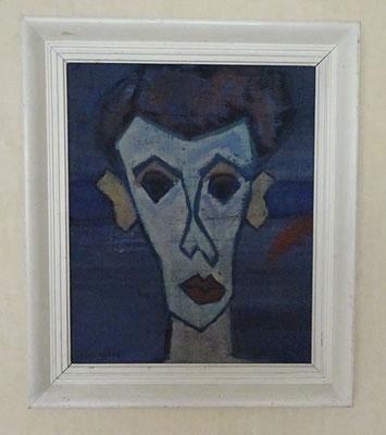 Schilderij Reimond Kimpe. Afmetingen ingelijst: 71 x 60cm.