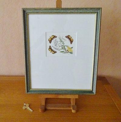 Aquarel Han van den Broeke ingelijst. Afmeting ingelijst: 32,5 x 28,5cm.