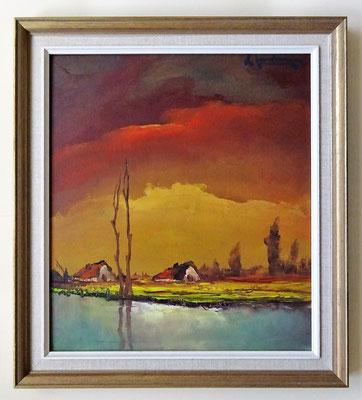 L. Jordaens schilderij met lijst. Afmeting: 50,5 x 45cm.