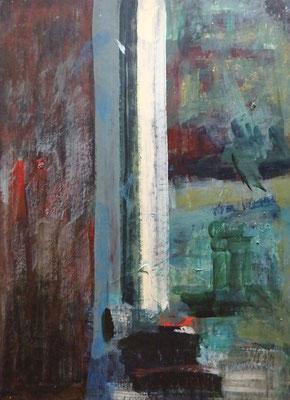 Hilde Cuyt, acryl op hardboard. Gesigneerd op achterzijde. Afm. 50 x 38cm. Prijs € 300,-
