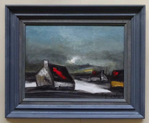 P. Permeke schilderij met lijst. Afmeting met lijst: 45 x 55cm.